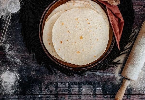 different types of flour tortillas